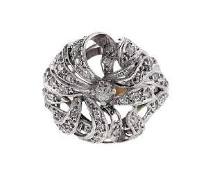 18K Gold Diamond Dome Ring