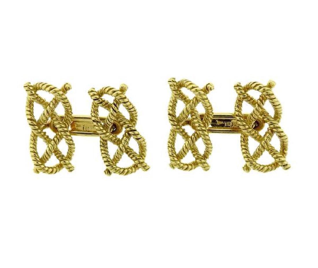 18K Gold Knot Cufflinks