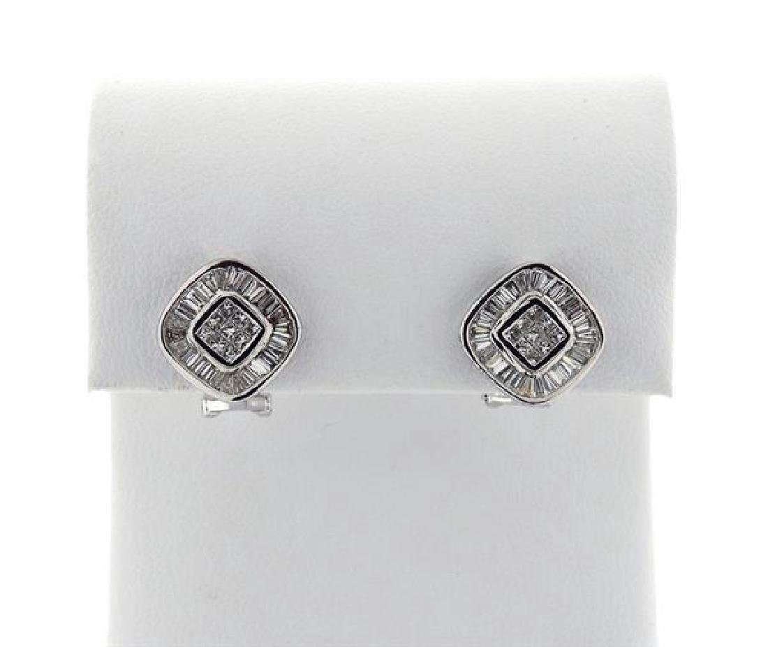 Carriere 18K Gold Diamond Square Earrings