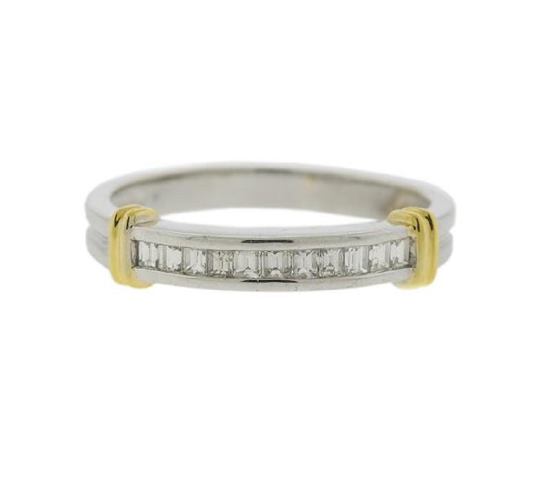 18k Gold Diamond Half Band Ring