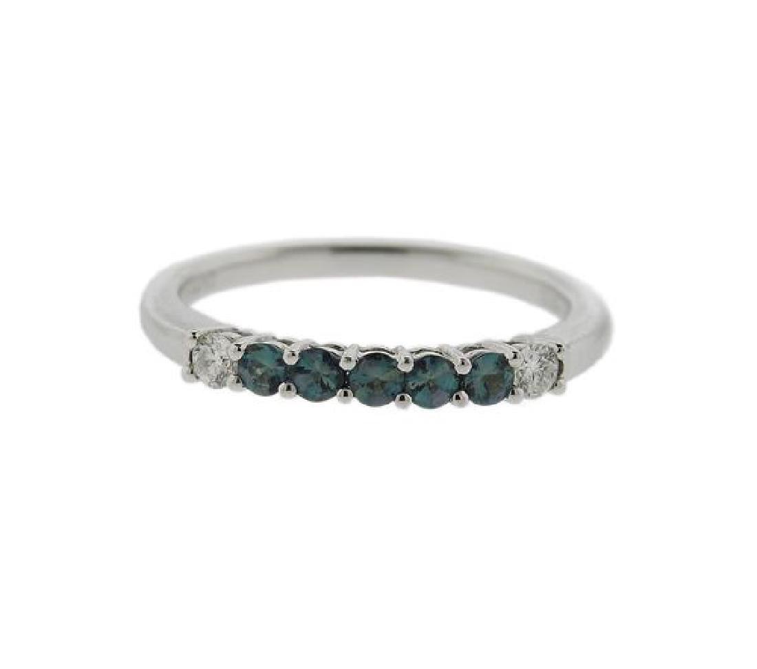 18k Gold Gemstone Diamond 7 Stone Ring