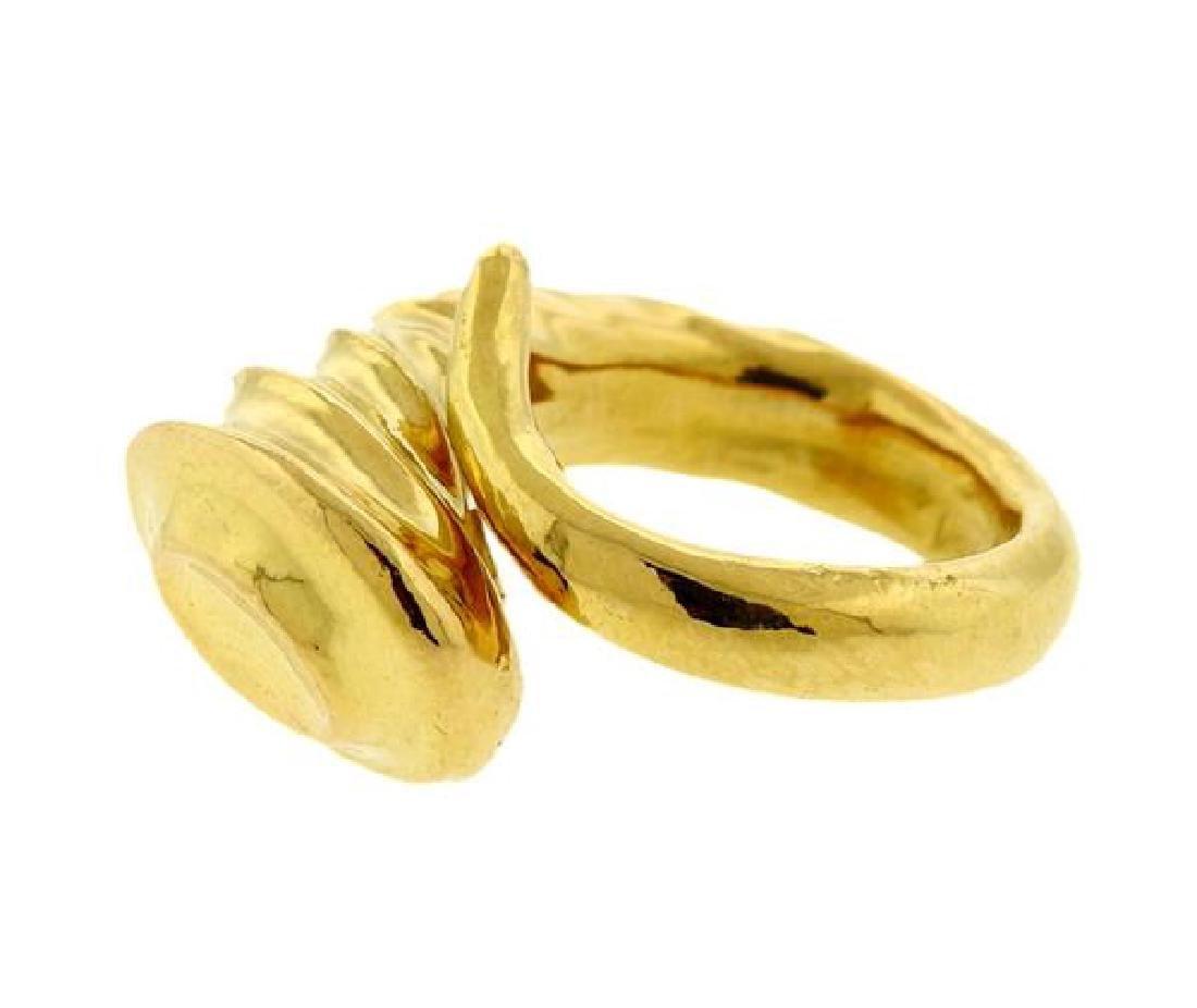 Lalaounis 18K Gold Horn Bypass Ring