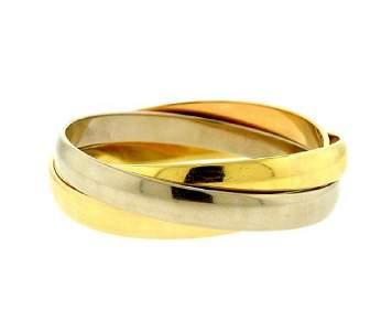 Cartier Trinity 18K Gold Rolling Bangle Bracelet