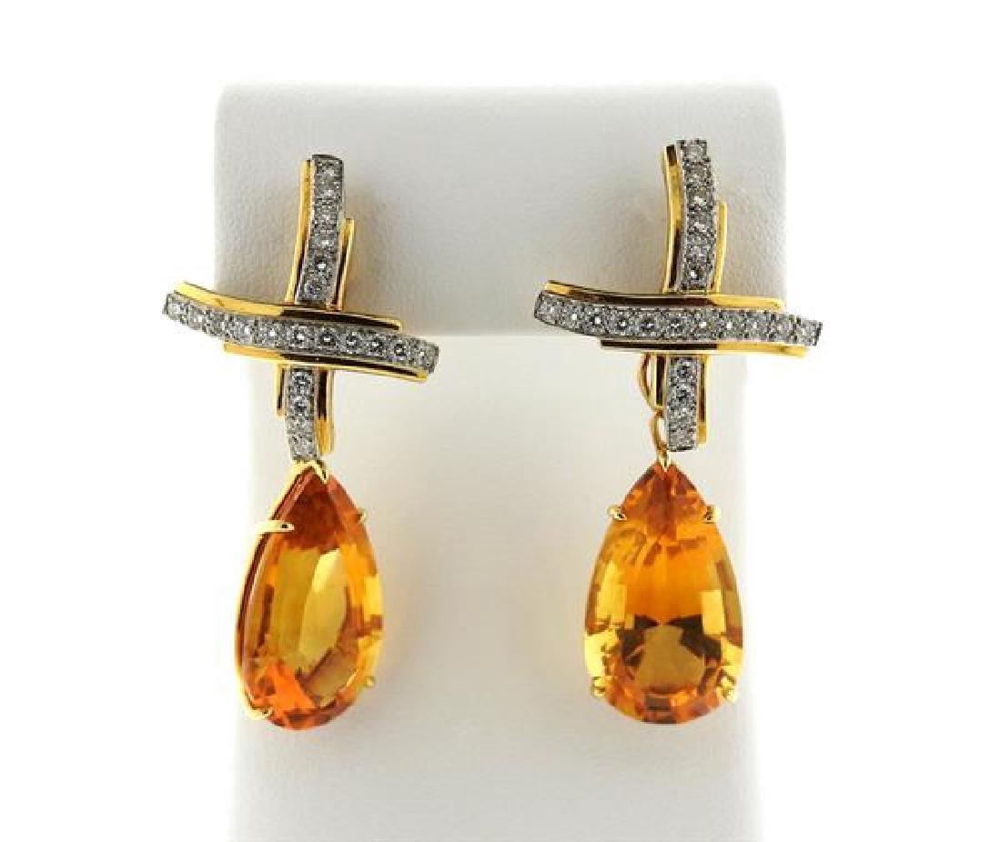 Tiffany & Co Picasso Gold Platinum  Citrine Diamond