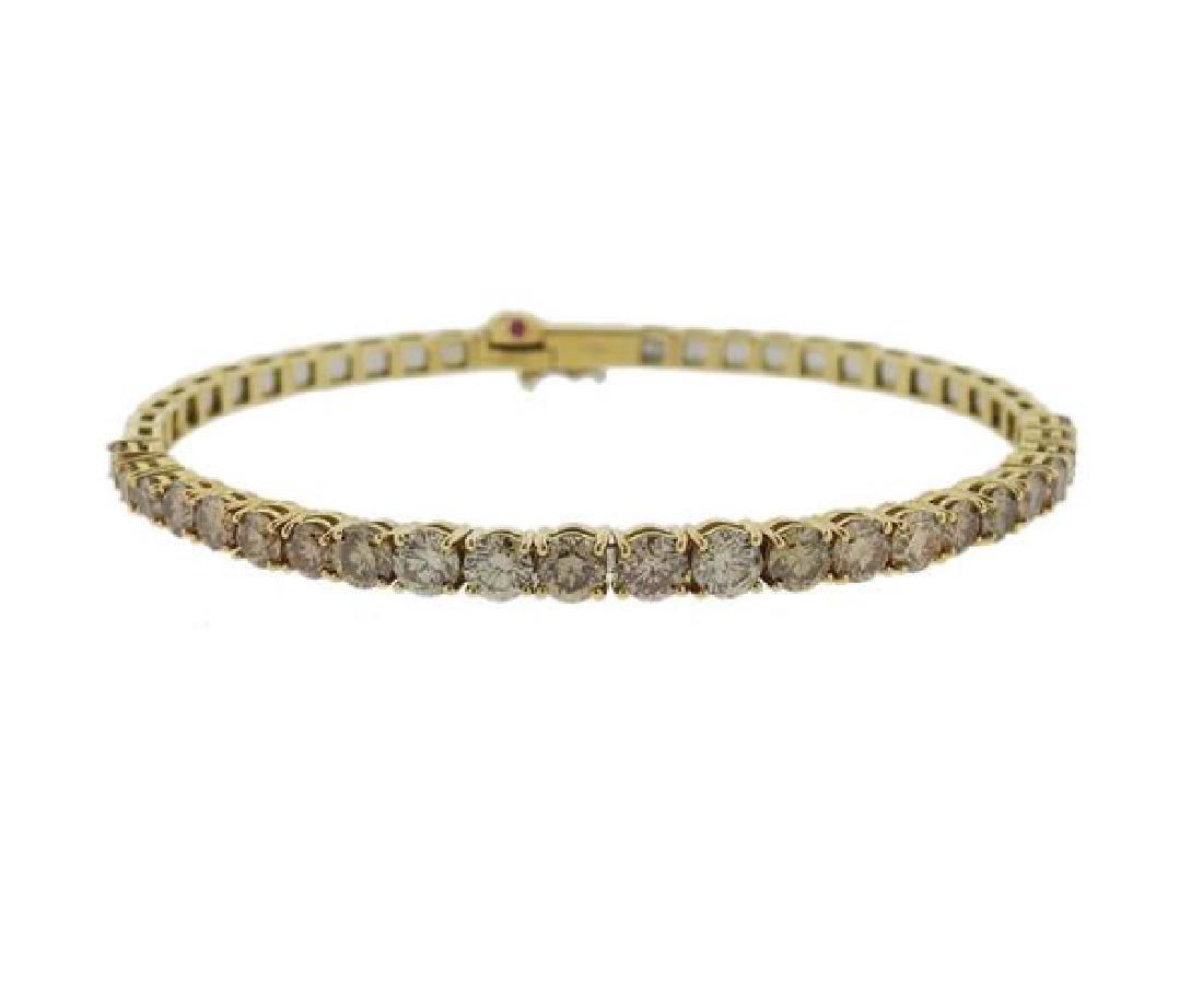 Roberto Coin 18K Gold Fancy Diamond Bangle Bracelet
