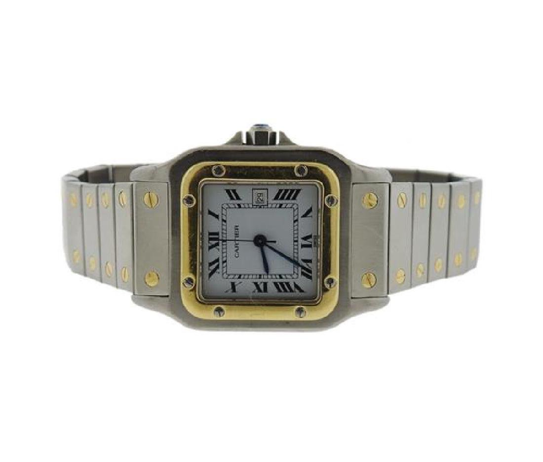Cartier Santos 18k Gold Stainless Automatic Watch