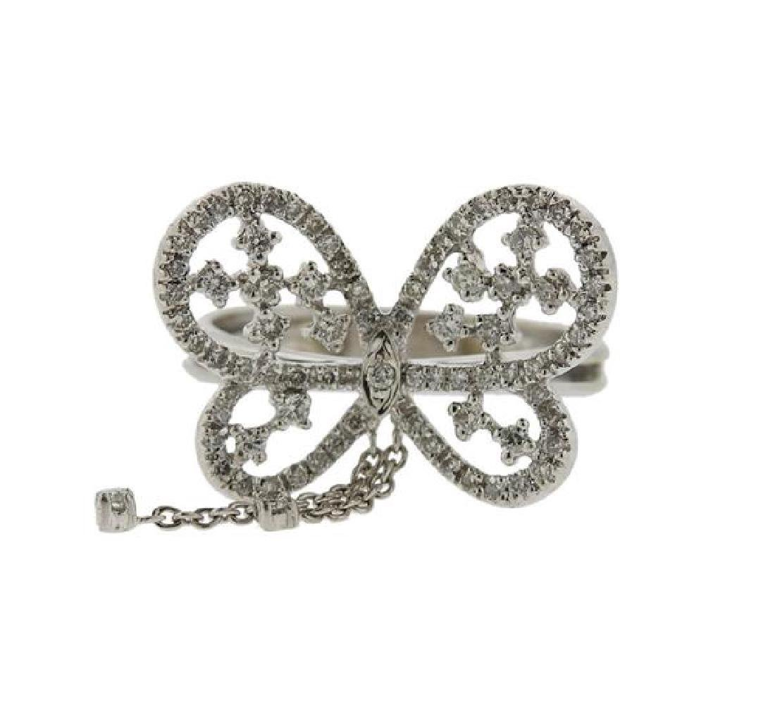18K God Diamond Butterfly Ring