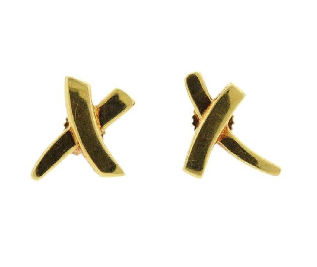 Tiffany & Co 18k Gold Paloma Picasso X Earrings