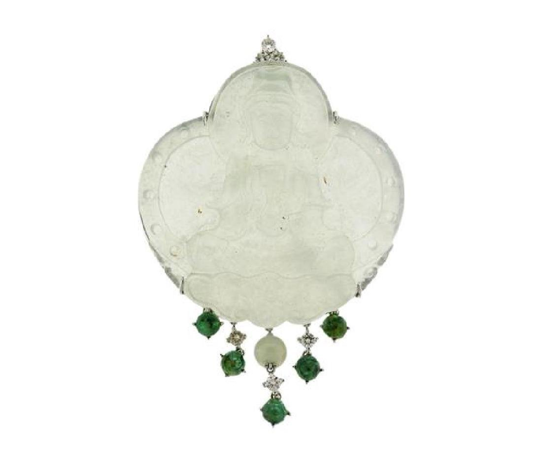 Natural Jadeite Jade 18K Gold Green Stone Diamond