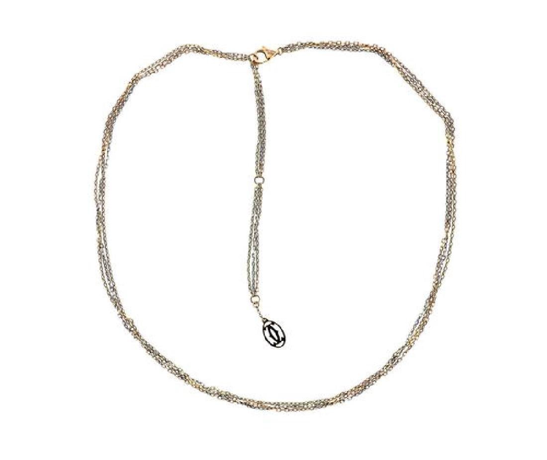 Cartier 18k Gold Tri Color Chain Necklace