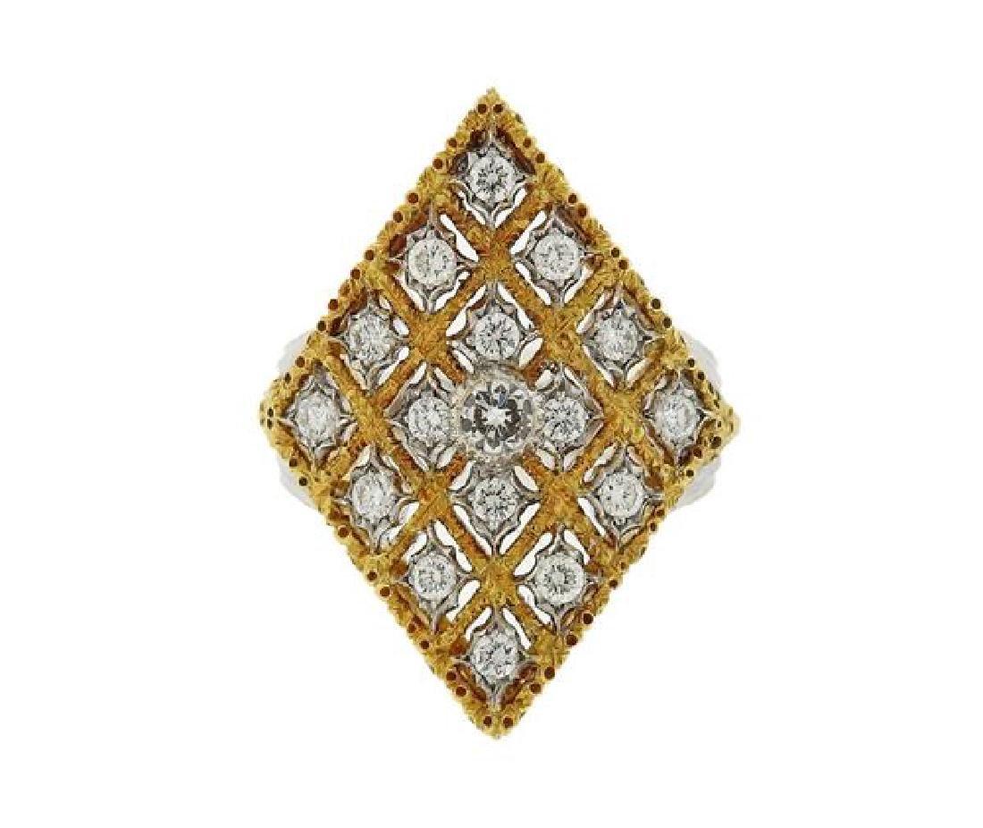 Buccellati 18k Gold Diamond Ring