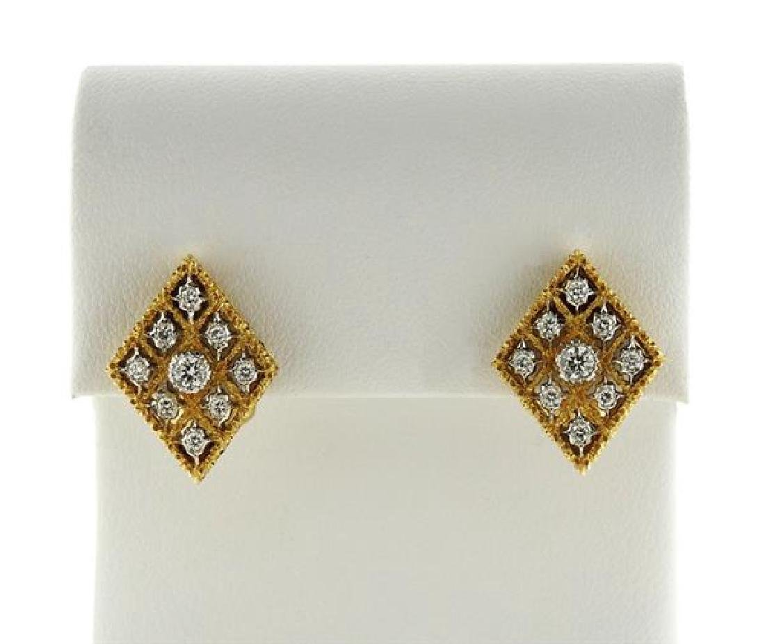 Buccellati 18k Gold Diamond Earrings