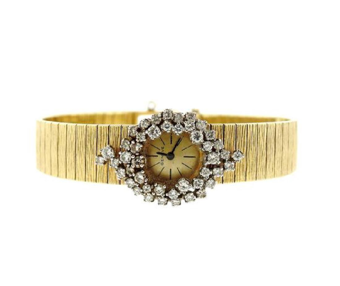 Vintage Geneve 18k Gold Diamond Lady's Watch