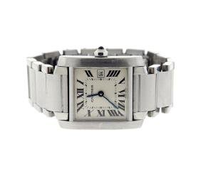 Cartier Tank Francaise Stainless Steel Watch 2465