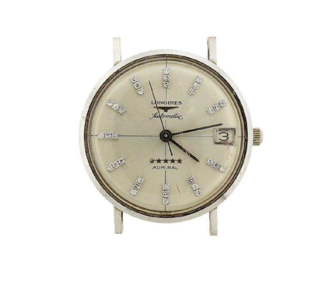 Longines Admiral 14k Gold Diamond Automatic Watch