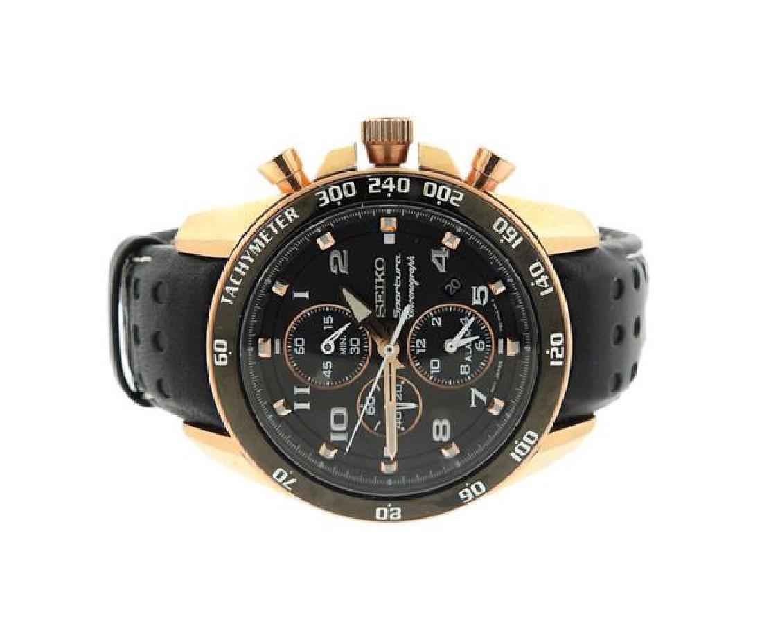 Seiko Sportura Tachymeter Chronograph Watch 101072
