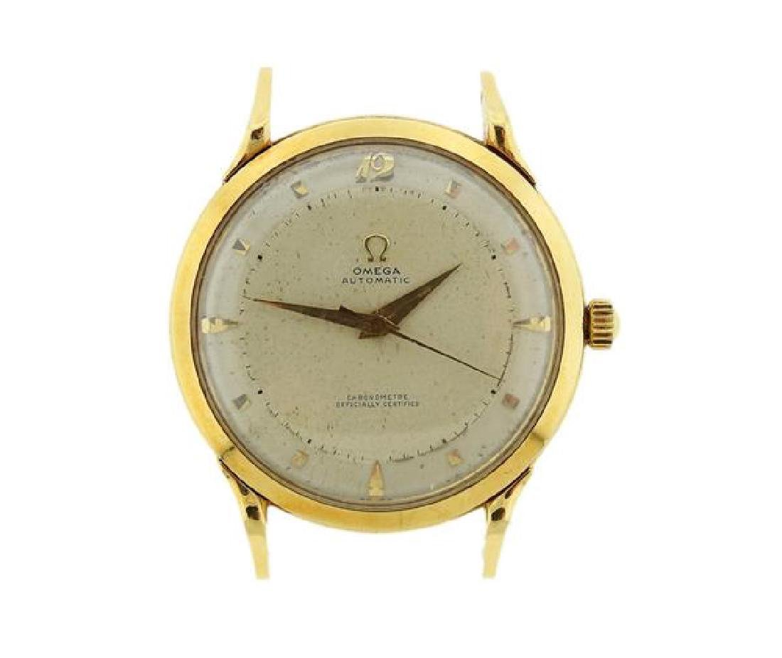1950s Omega 18k Gold Automatic Bumper Movement Watch