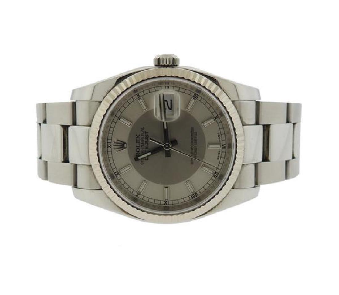 Rolex Datejust 18k Gold Steel Bullseye Dial Watch ref.