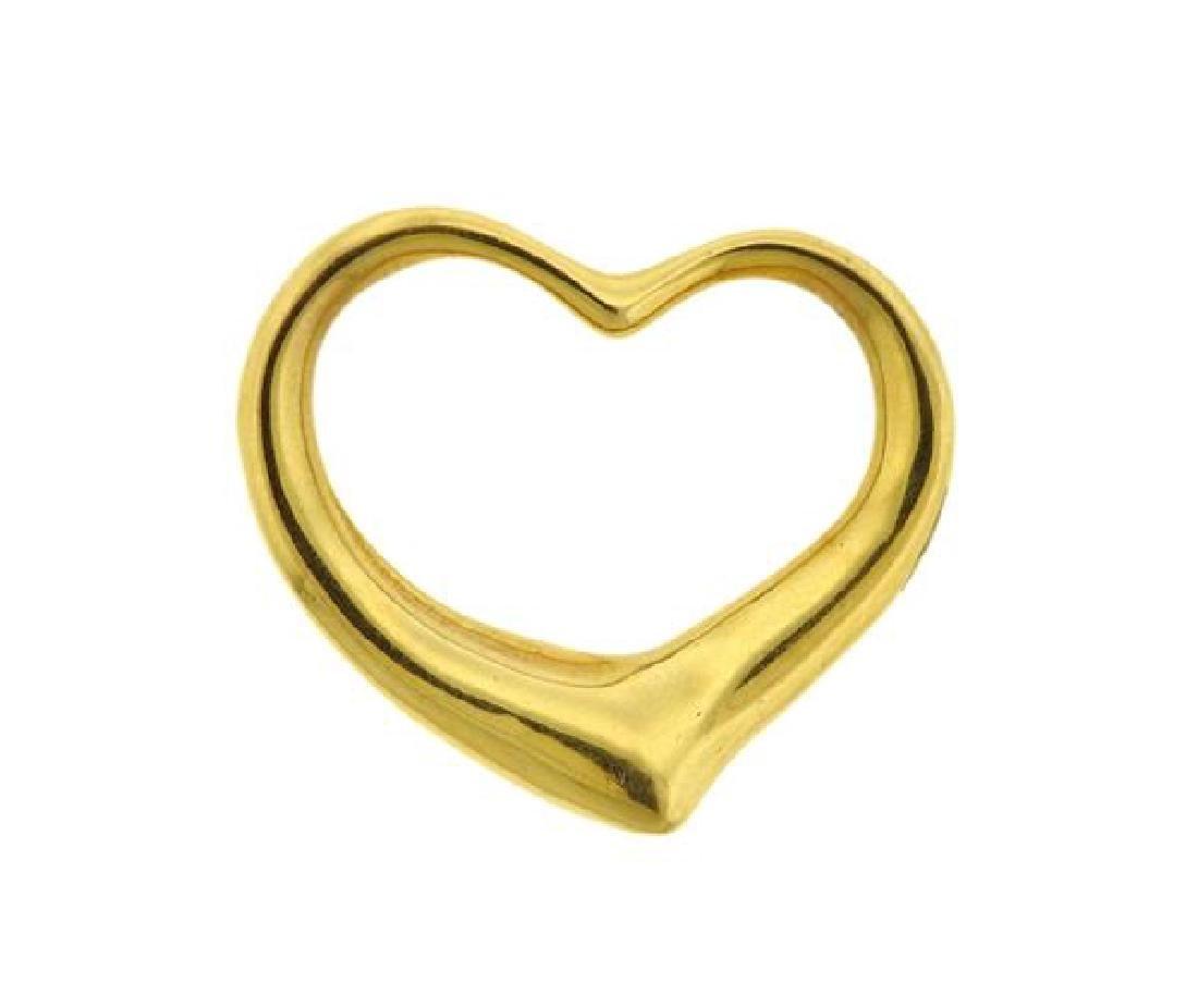 Tiffany & Co Peretti Open Heart 18k Gold Pendant