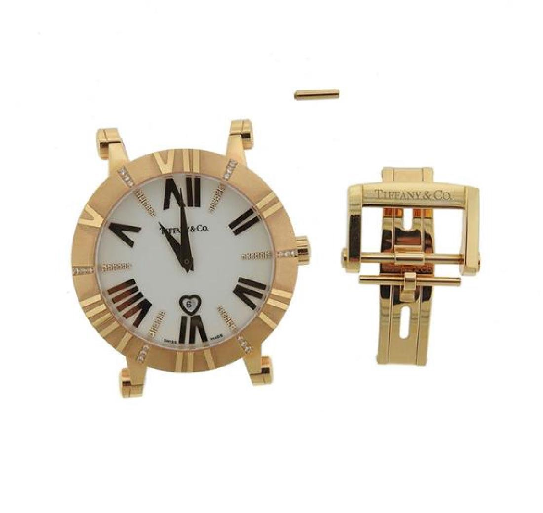 Tiffany & Co Atlas 18k Gold Diamond Watch