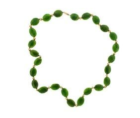 14k Gold Jade Necklace