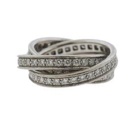 Cartier Trinity 18k Gold Diamond Band Ring