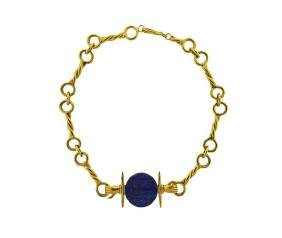 Lalaounis 18k 22k Gold Lapis Necklace