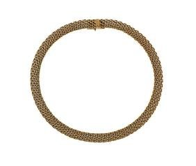 Tiffany & Co 18k Gold Woven Link Necklace