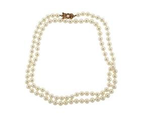 Mikimoto 18k Gold Pearl Necklace