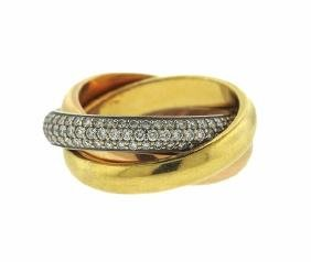 Cartier Trinity Diamond Rolling Band Ring