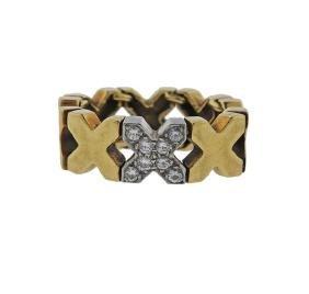 Tiffany & Co Paloma Picasso 18k Gold Diamond X Ring