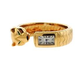 Cartier Panthere 18k Gold Watch Bracelet