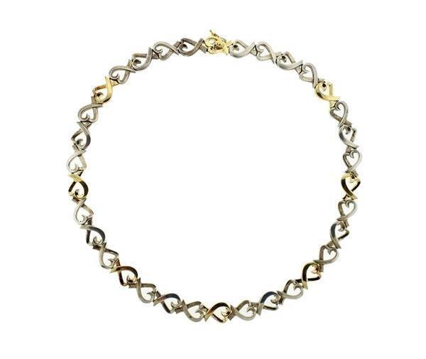 Tiffany & Co Picasso Loving Heart Silver 18k Gold