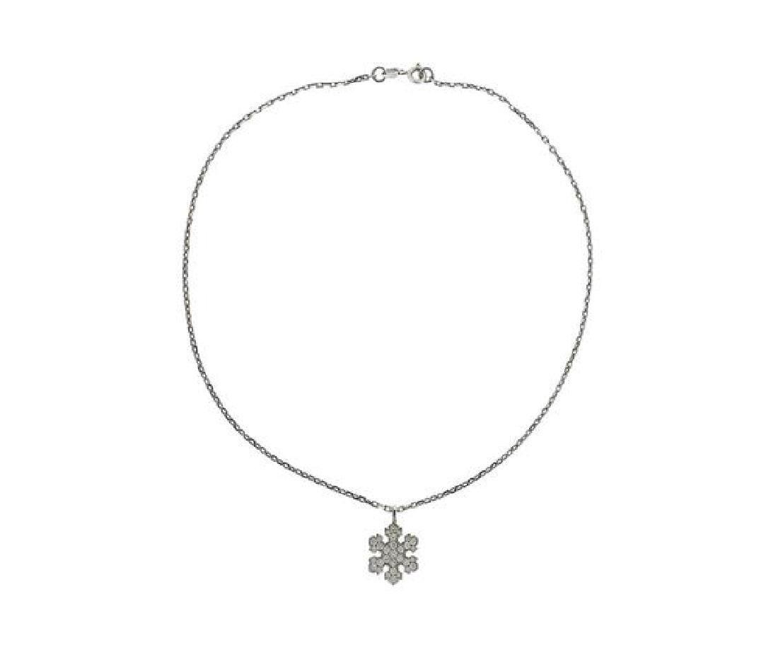 Bulgari Bvlgari 18K Gold Diamond Snowflake Pendant