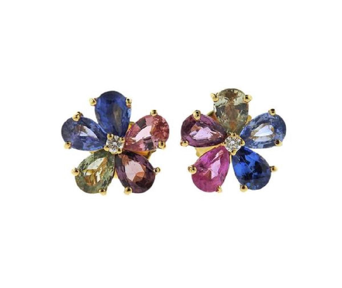 Bvlgari Bulgari 18K Gold Diamond Sapphire Flora