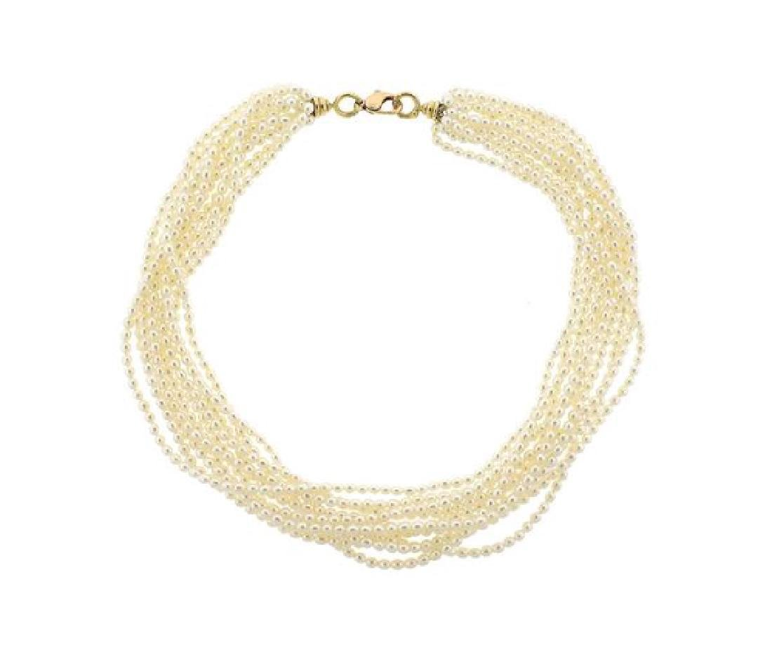 Tiffany & Co Paloma Picasso 18K Gold Pearl Necklace