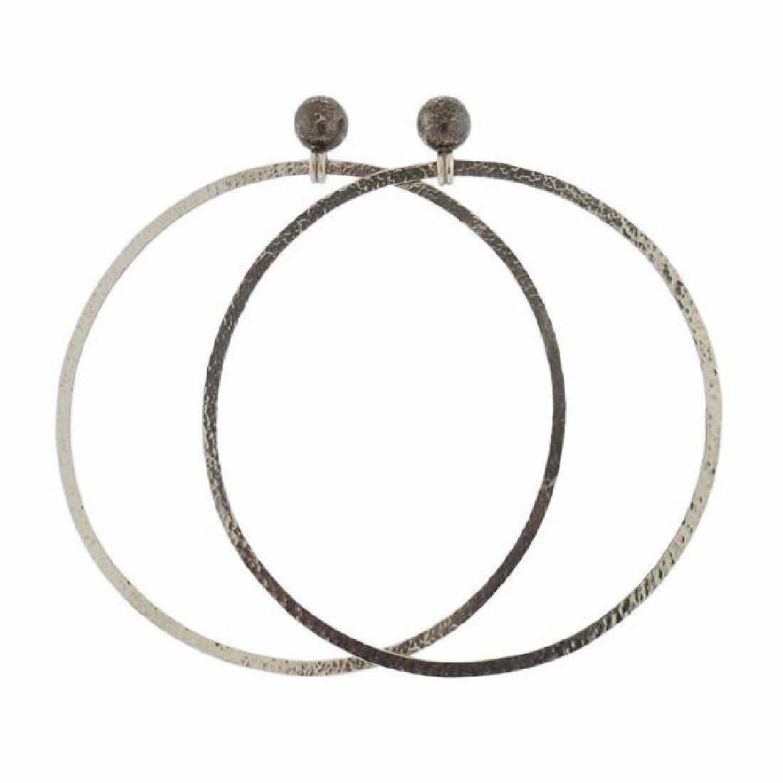 Gurhan Sterling Silver Large Hoop Earrings