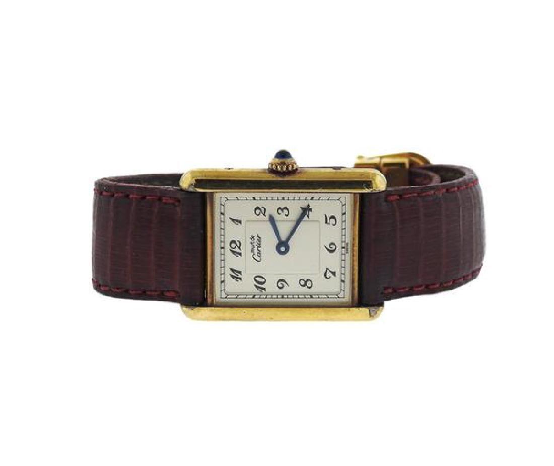 Cartier Tank Vermeil Quartz Watch