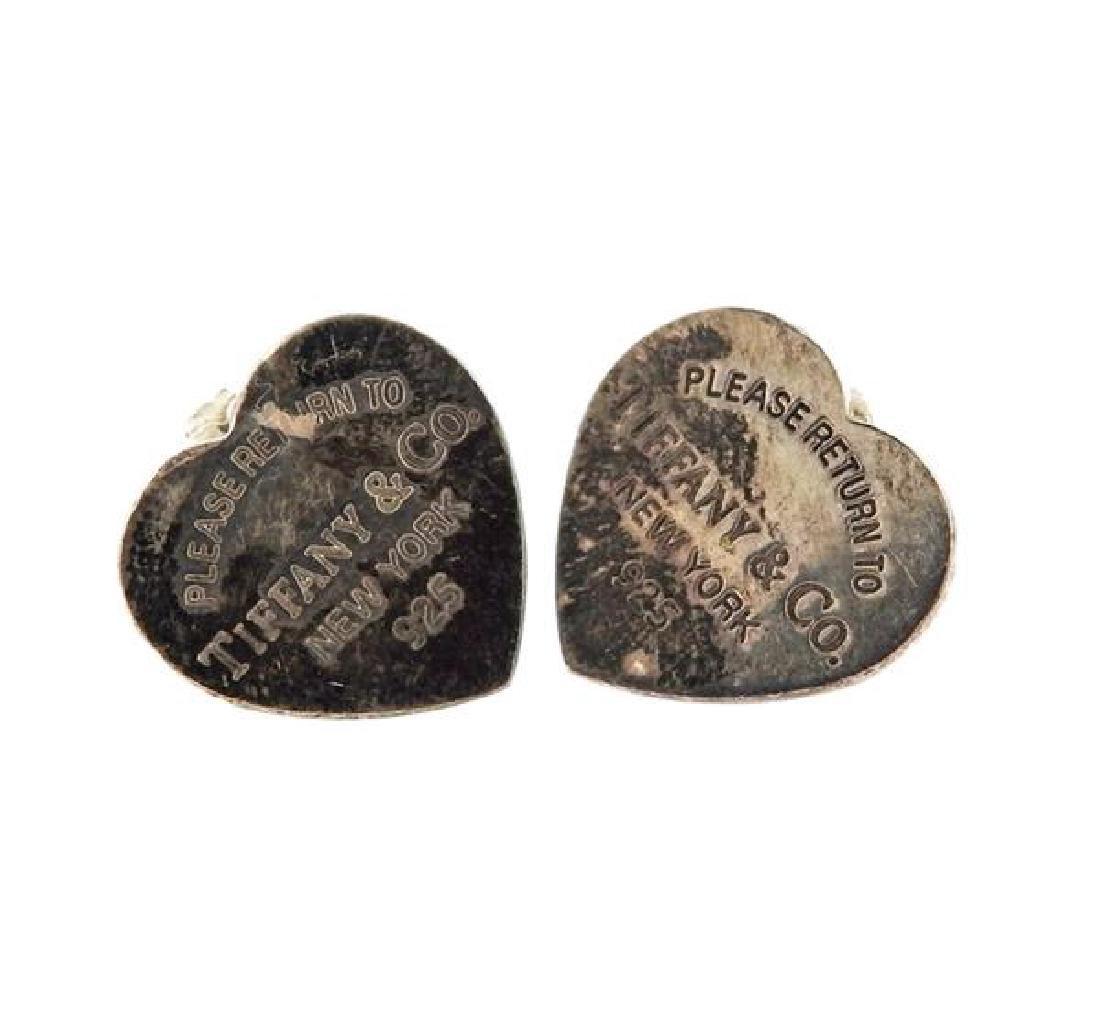 Tiffany & Co Sterling 1837 Ring Heart Earrings Lot - 2