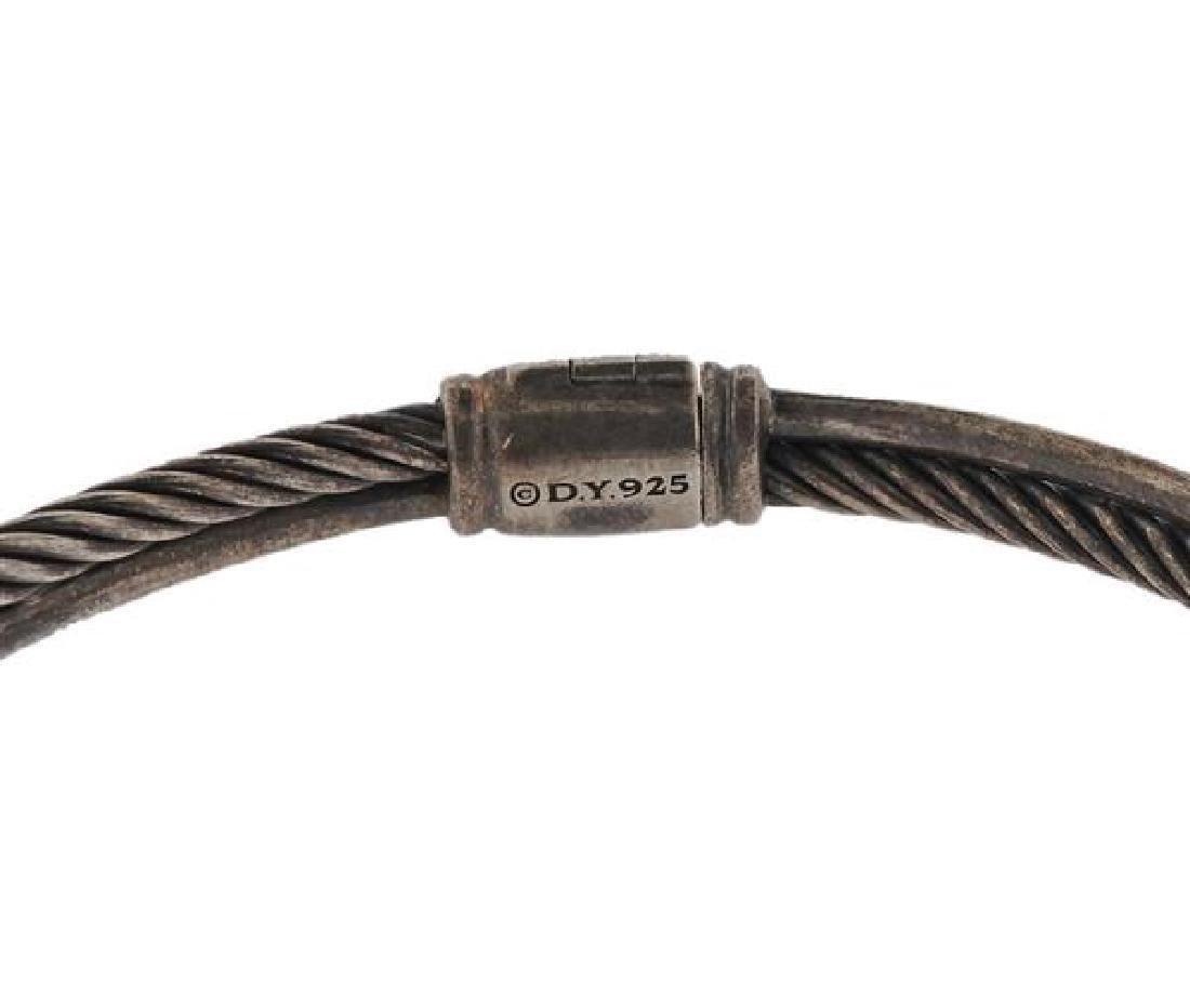 David Yurman Sterling Diamond X Crossover Bracelet - 3