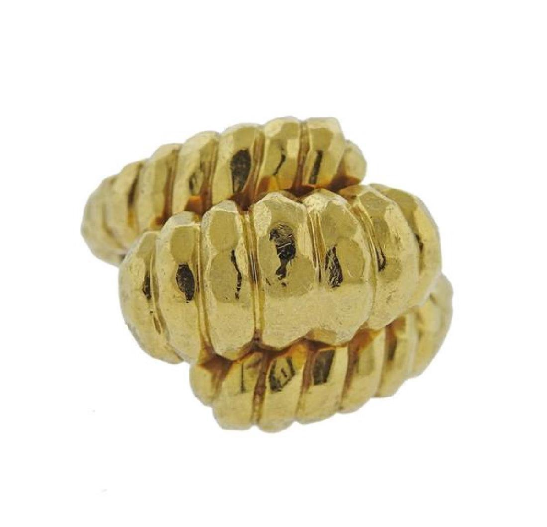 Henry Dunay Hammered 18k Gold Dome Ring