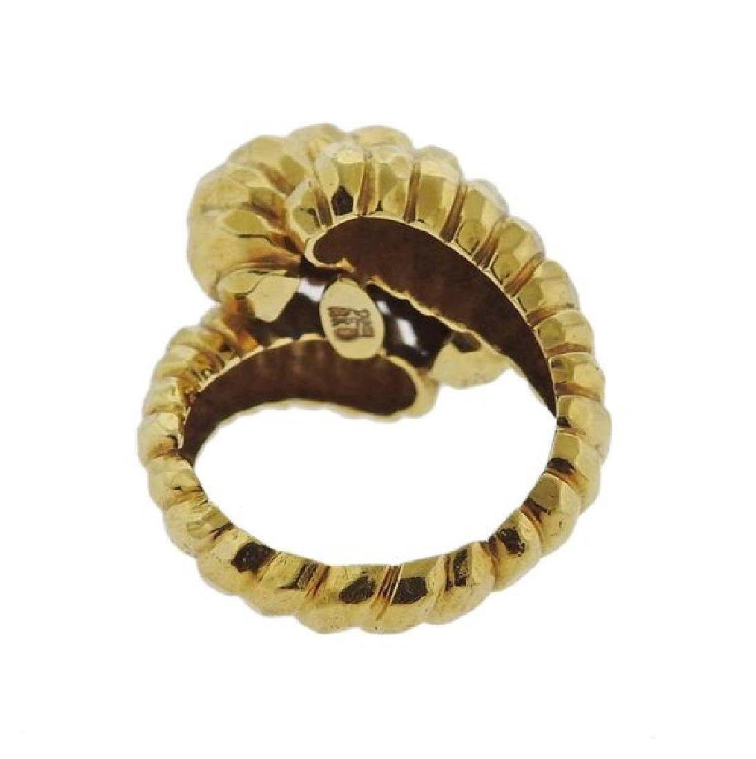 Henry Dunay Hammered 18k Gold Dome Ring - 3