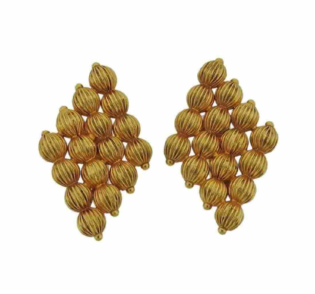 Lalaounis Greece 18k Gold Earrings