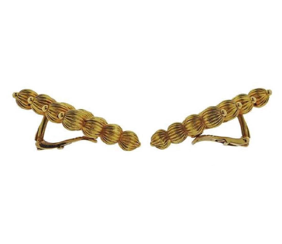 Lalaounis Greece 18k Gold Earrings - 2