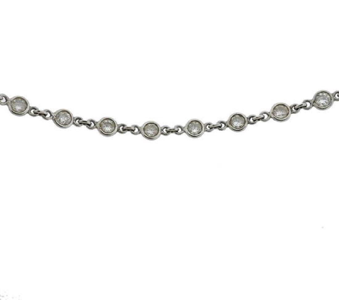 14k Gold Diamond Station Necklace - 3