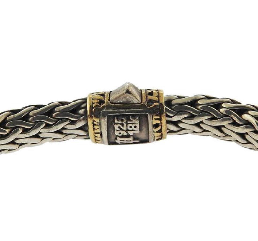 John Hardy Classic Chain 18k Gold Sterling Bracelet - 3