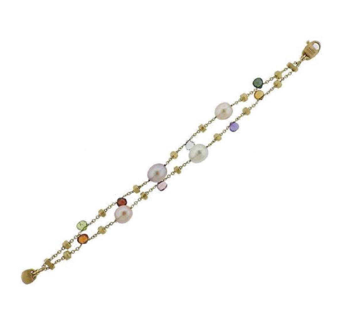Marco Bicego Paradise 18k Gold Gemstone Pearl Bracelet