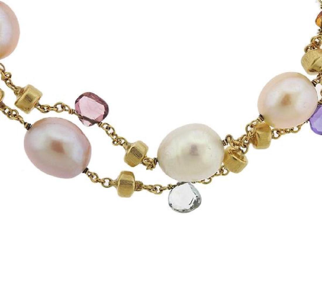 Marco Bicego Paradise 18k Gold Gemstone Pearl Bracelet - 3