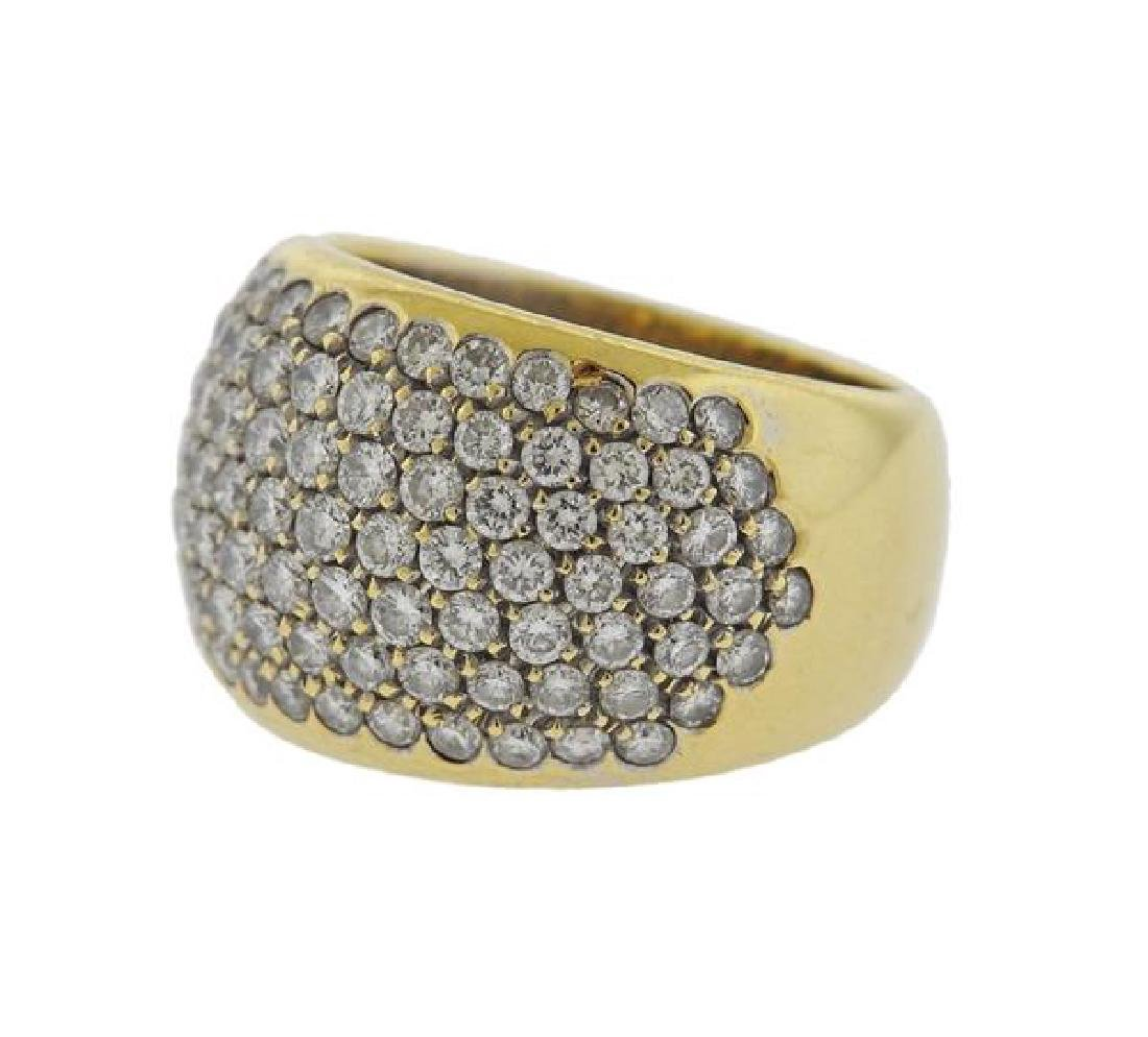 18k Gold Diamond Dome Ring - 2