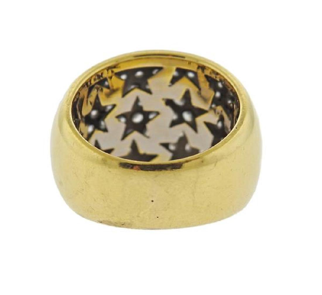 18k Gold Diamond Dome Ring - 3